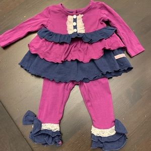 Ruffle Butts coordinating tunic and leggings